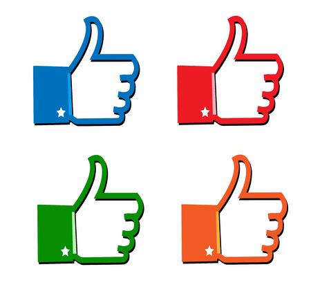 i like:  I Like icon  and thumb up icon