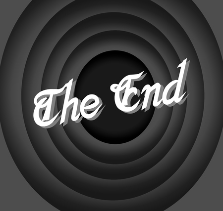 The End Movie Vector
