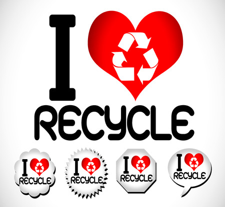 I Love to Recycle  Vector