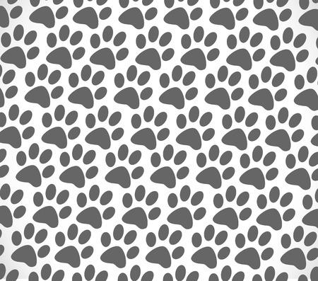 animal foot: Animal foot print silhouettes