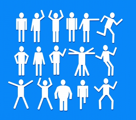 Pictograms people Man Icon Sign Symbol Pictogram Stock Vector - 25395397