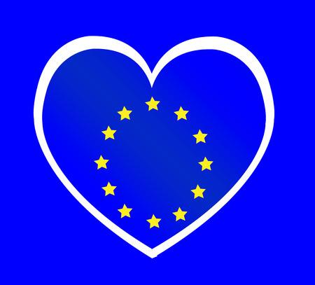 EU flag European union flag idea design Vector