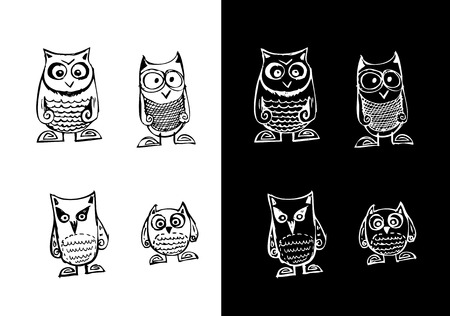insectivorous: Bird collection illustration Illustration