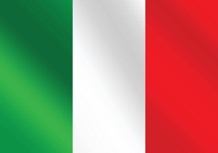 italian politics: Italy flag icons theme idea for design