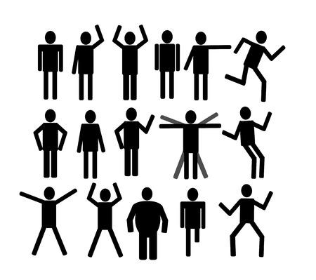 lie down: Pictograms people Man Icon Sign Symbol Pictogram  Illustration