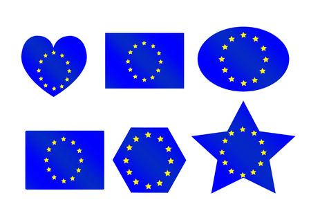 grained: EU flag European union flag idea design