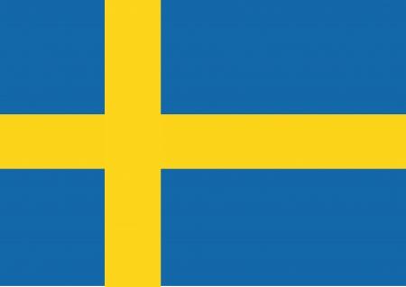 スウェーデン国旗のテーマ アイデア デザインします。  イラスト・ベクター素材