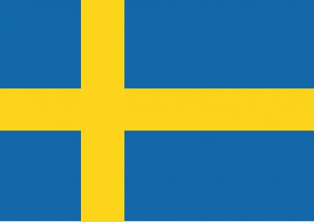 Sweden Flag themes idea design i Иллюстрация