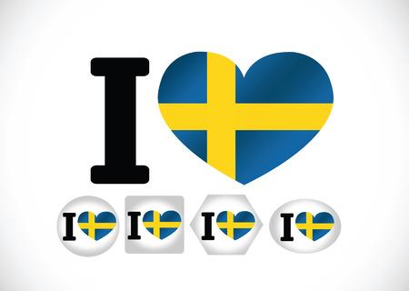 Sweden Flag themes idea design i Illustration