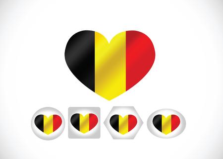 National flag of Belgium themes design  Vector