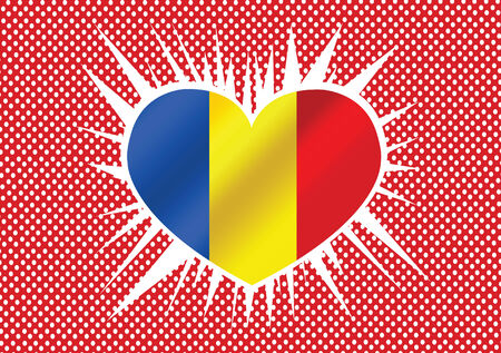 romania: National flag of Romania themes idea design  Illustration