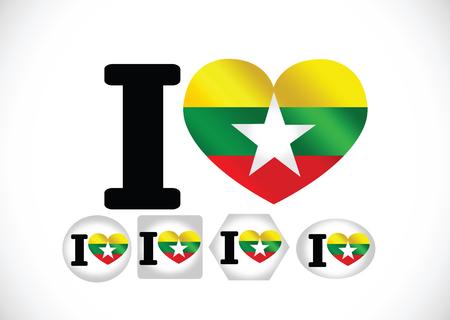 real state: Union of Myanmar flag or Burma flag themes idea design