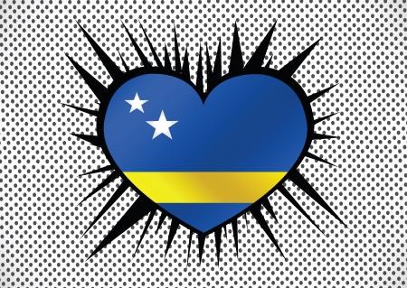proportional: Curacao flag themes idea design