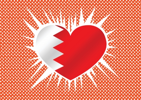 Bahrain flag themes idea design  Vector