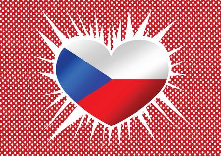 National flag of Czech Republic themes idea design  Vector