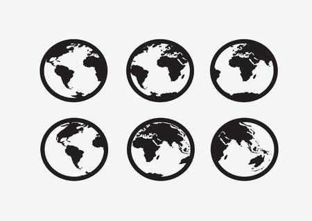 Globe earth vector icons themes idea design