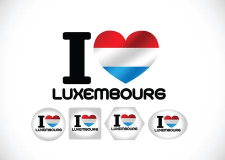 Nationale vlag van Luxemburg thema idee ontwerp