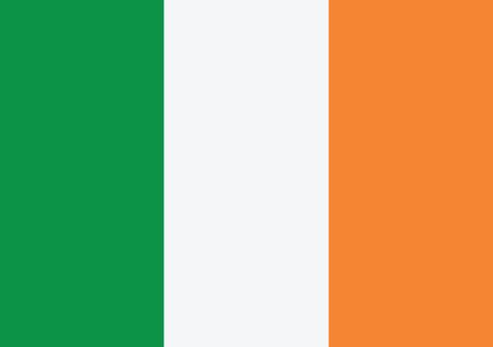irish flag: National flag of Ireland themes idea design  Illustration