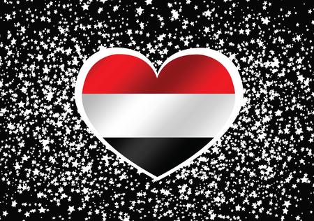 yemen: yemen flag Illustration