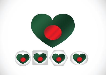 Bangladesh flag themes idea design