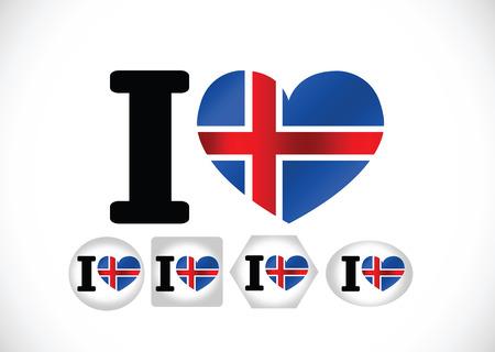 the icelandic flag: National flag of Iceland themes idea design Illustration