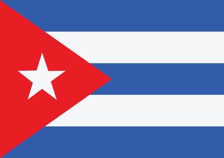 Cuba flag themes idea design Vector