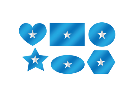 Somalia flag themes idea design Vector