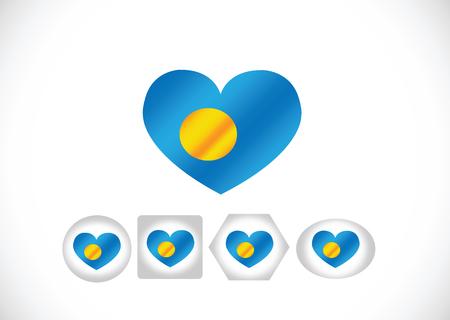 Palau flag themes idea design Vector