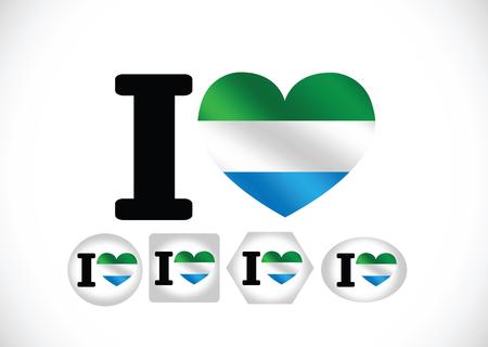 sierra: Sierra Leone flag themes idea design