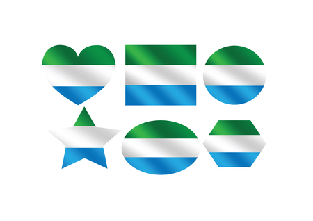 sierra: Sierra Leone flag themes idea design