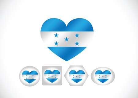 Honduras flag themes idea design  Vector