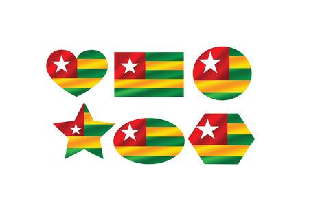 togo: Togo flag themes idea design Illustration