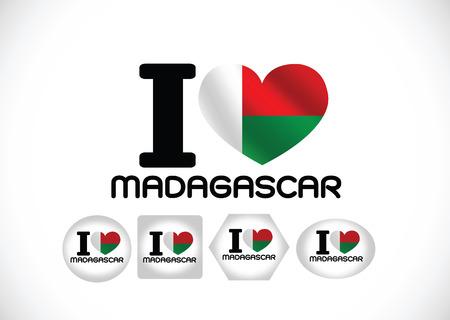 madagascar flag themes idea design Vector