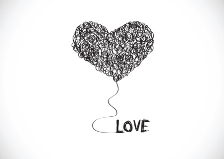 inlove: Design Heart for Valentines Day  Illustration