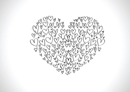 doodles freehand letters love text idea for valentine s day Vector