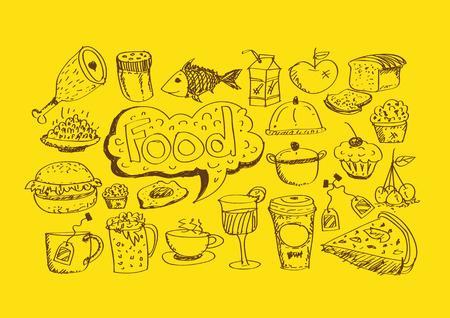 food icons: Food Icons Vector set Illustration
