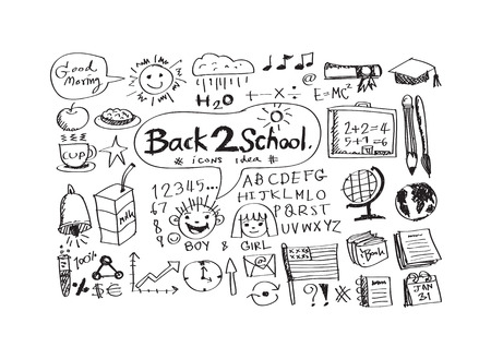 drawing school items Back to School Vector illustration Vector