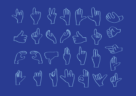 hand drawing icons set Vector
