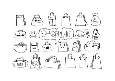 bussines: Hand doodle Business icon set idea design
