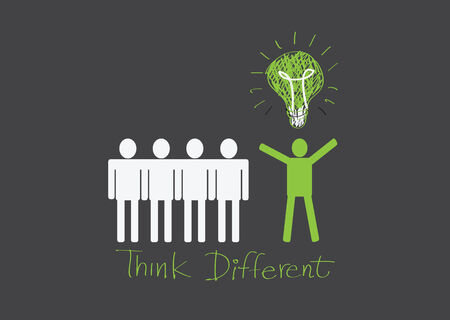 people icons think different idea design