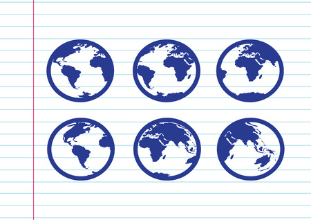 Globe earth vector icons themes idea design Vector