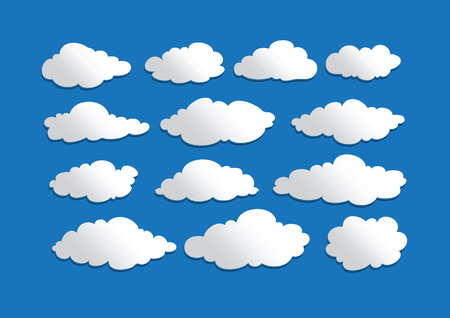 design of clouds Vector illustration