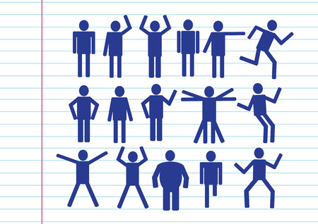 Pictograms people Man Icon Sign Symbol Pictogram Stock Vector - 25986128