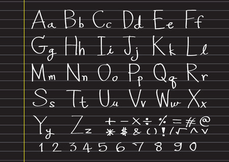 snappy: Hand drawn letters font written with a pen