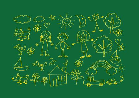 family picture: ni�os de dibujo imagen feliz familia