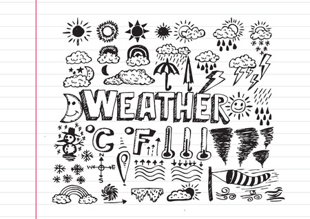 weather symbols: weather symbols widget and icons drawing idea