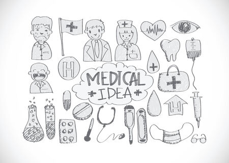 ampule: medical icon set idea