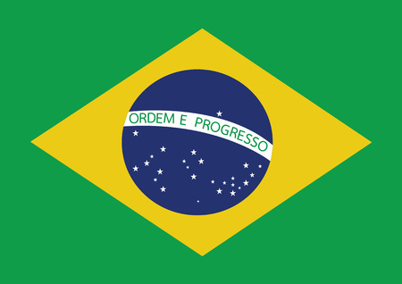 brazilian: Brazil map and flag theme idea design Illustration