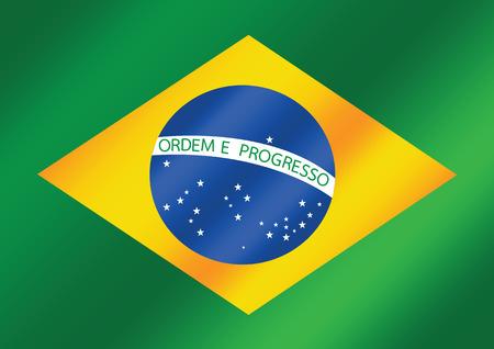 brazil flag: Brazil map and flag theme idea design Illustration