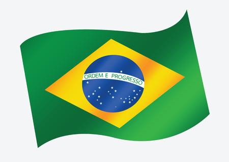 Brazil map and flag theme idea design Illustration